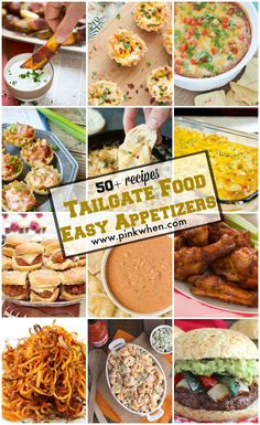 Tailgate Food & Easy Appetizers Recipes www.pinkwhen.com