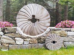 Hand-carved Granite Millstones by Maine Millstones