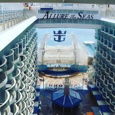 A view taken from inside the largest Cruise Ship in the world today...