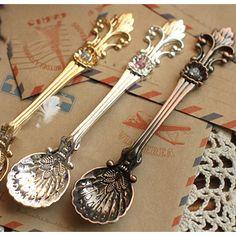 Min orden $10 8105 helado cuchara pequeña flor de de luce una cuchara( zm) en de en Aliexpress.com