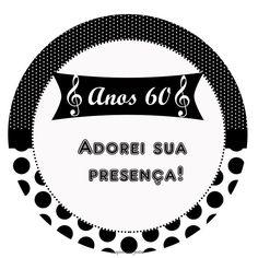 Anos 60 – Kit festa grátis para imprimir – Inspire sua Festa ®