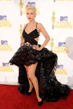 Christina Aguilera in Atelier Versace - MTV Movie Awards.