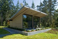 Wooden Contemporary Home – Whidbey Island Cabin by CHESMORE|BUCK Architecture | http://www.designrulz.com/design/2013/04/wooden-contemporary-home-whidbey-island-cabin-by-chesmorebuck-architecture/