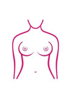Es gibt sieben verschiedene Brust Formen