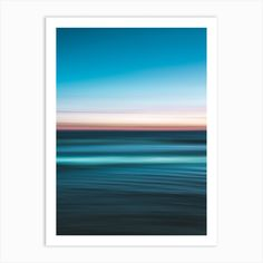 Vivid Ocean Art Print by Hannah Prewitt - Fy Tropical Landscaping, Tropical Vibes, Ocean Art, Palm Trees, Fine Art Prints, Things To Come, Landscape, Abstract, Printers