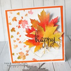 Poppy Stamps - Majestic Maple die