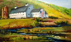 Mcpolin Barn Painting - Mcpolin Park City Utah Barn by Diane Whitehead