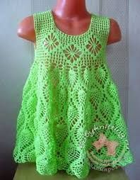 Resultado de imagem para vestido+de+croche+infantil