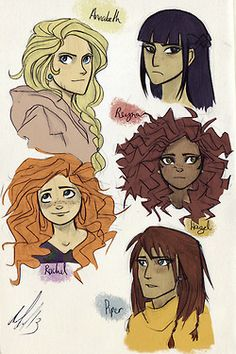 I wouldn't draw Reyna with bangs ever, though I ♥ the drawing of Rachel