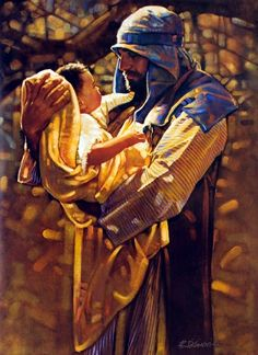 "St. Joseph and infant Jesus ~ ""Holding Heaven""  Ron D'Cianni"