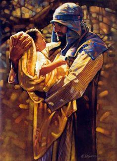 "St. Joseph and infant Jesus ~ ""Holding Heaven"" Ron D'Cianni"