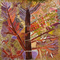 Hector Tjupuru Burton / Punu Ngura - From the Trees 2012   196 x 196 cm