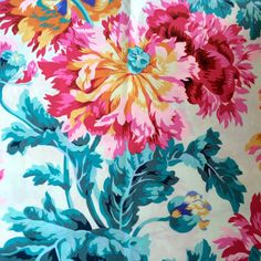 Philip Jacobs OOP rare fabric Garden Party by anotherghostquilts