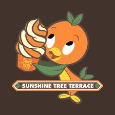 Shop Florida Orange Bird - Sunshine Tree Terrace disney orange bird t-shirts designed by deptofcitrus as well as other disney orange bird merchandise at TeePublic. Disney Nerd, Disney Parks, Walt Disney World, Florida Oranges, Orange Bird, Bird Party, Bird Wallpaper, Diy Buttons, Disney Posters
