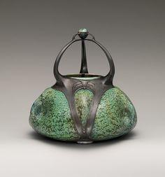 Designer: Walter Scherf (German, Grünewald 1875–1909 Nuremberg). Manufacturer: Walter Sherf & Co., Nürnberg. Date: ca. 1903. Medium: Stoneware, pewter.