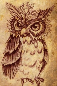 Owl CA-CAW! Due to the overwhelming request for tattoo use and other use there are going to be new stipulations - you can get a tattoo of it if you want. I want a email sent to twinvstwin@gmail.com...