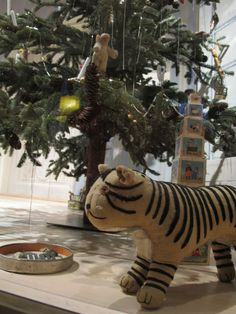 Tree on display at Tartu Toy Museum, with 100 year old decorations. #MuseXmas