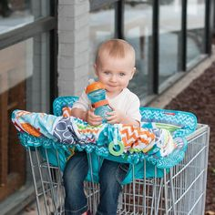 Compact Shopping Cart Cover For Baby Extra Padding Adjusts Safety Harness Teal Cart Cover For Baby, Baby Shopping Cart Cover, Baby Cover, Shopping Carts, Grocery Basket, Go To Walmart, Highchair Cover, Baby Comforter, Baby Needs