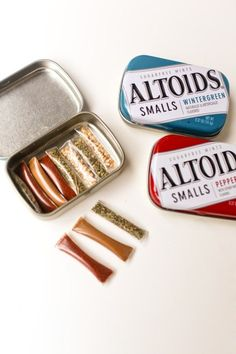 DIY Ultralight Travel Spice Kit (Camp Food Ideas). Also for 1st Aid Ointments, etc.