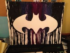 Showcase batman gifts that you can find in the market. Get your batman gifts ideas now. Batman Poster, Batman Art, Kid Costume, Batman Painting, Dot Painting, Crayon Crafts, Crayon Ideas, Middle School Art Projects, Melting Crayons