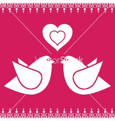 Bird love vector on VectorStock®