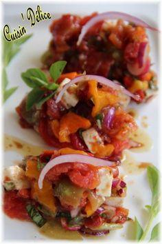 Salade multicolore aux légumes confits, Recette de Salade multicolore aux légumes confits par Claryss - Food Reporter