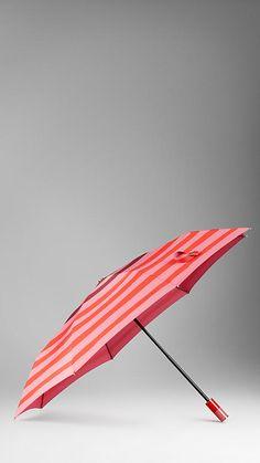 Burberry Striped Folding Umbrella