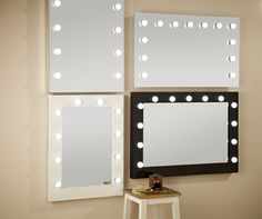 As official suppliers to many A - list celebrities our Hollywood mirror with lights around it creates the perfect beauty environment for your makeup and hair to look your very best. www.hollywoodmirrors.co.uk Our eco-energy Hollywood Mirrors are the perfect makeup and beauty mirror, vanity mirror or dressing table mirror! Our illuminated mirrors are stylish and brightly lit making the perfect home decor accessory to any of your interiors. #Interiors #InteriorDesign #Bedroom #Bathroom…