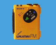 1980´s  Sony Sports Walkman.  Waterproof.  I floated down the Clark Fork  river on an innertube once with mine until the headphones got wet it was great.