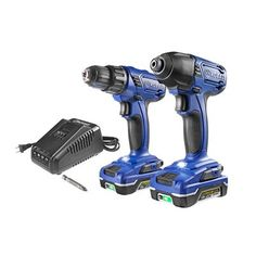 Kobalt 18-Volt Lithium-Ion Cordless Drill/Driver and Impact Driver Combo Kit (K18CP-26A)