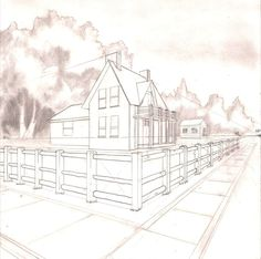 2 Point Perspective By Greyfoxdie85deviantart On DeviantART 3d Drawings Pencil
