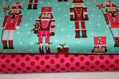 Michael Miller Christmas Fabric Duo Nutcrackers by BellaFabrics, $17.75