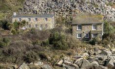 Houses at Lamorna Cove, Cornwall