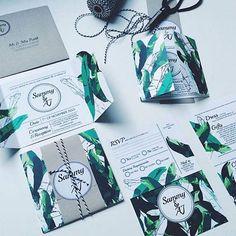 Ttttttttropicalin love with these invites from @ivyinvite!! RG @wanderlust_creative #onefineday #weddingfair #weddinginspo #wedding