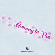 Mommy To Be Pink Pompom Sash