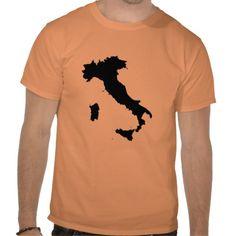 Italy on Orange T-shirts