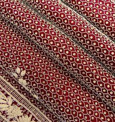 Vintage Bridal Dupatta Satin Fabric