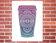 DETAILS Coffee, Now - NO FRAME For more art items, visit my shop at: https://www/etsy.com/shop/SelahVieStudios Mehndi abstract original art print, inspired by ones love (and need) for coffee! SIZE 6x9 (no matboard) - $10 6x9 with 8x10 matboard - $12 8.5x11 (no matboard) - $15