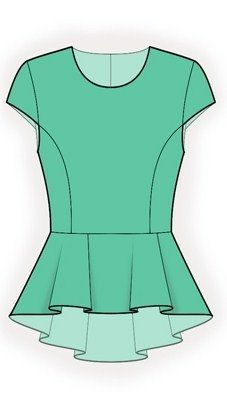 4177 PDF Sewing Pattern for Blouse Personalized for by TipTopFit