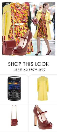 """""""blair w. - the fugitives"""" by cla-90 ❤ liked on Polyvore featuring Chanel, Marni, STELLA McCARTNEY, Miu Miu, chain strap handbags, floral dresses, floral print, blackberry, dress like and coats"""