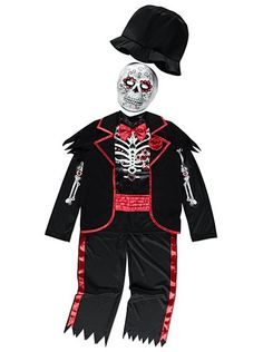 Halloween Day of the Dead Skeleton Costume, read reviews and buy online at George at ASDA. Shop from our latest range in Kids. Your little one will be the be...