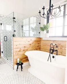 Bathroom Inspiration : Farm House FanaticsThe Definitive Source for Interior Designers Bad Inspiration, Bathroom Inspiration, Bathroom Ideas, Bathroom Organization, Bathroom Goals, Bathroom Designs, Bathroom Cleaning, Bath Ideas, Cottage Bathroom Design Ideas