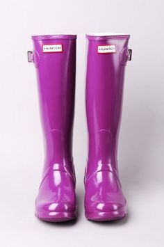 Pop of purple -Hunter rain boots $125.00
