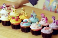 Too Cute My Little Pony Cupcakes    Each cupcake is decorated after a My Little Pony character and you can customize them to include your favorites. #kidfriendly