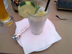 Tasty cold cucumber soup @ Restaurant Palmenhaus