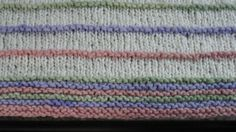 Hand Knit Square Baby Blanket White with by KittyCatHandicraft