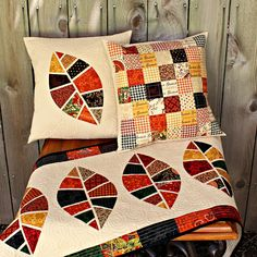 Frivolous Necessity: applique-great quilting and fabric choices