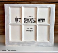 Vintage, Paint and more... a DIY French graphic window with tutorial