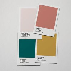 Pantone 2019 Prints Wandkunst, Set mit 4 Pantone Farben Kunstdruck, Pantone 2019 Poster, Farb ...