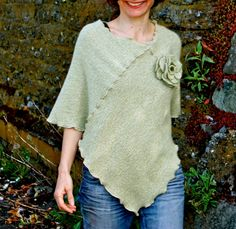 Eco Cashmere Poncho Womens Cape Shawl WOMANS CLOTHING clothing for women Summer clothing Recycled Cashmere, Clothing, Woman. $78.00, via Etsy.